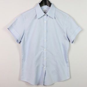 Brooks Brothers Size 6 Short Sleeve Non Iron Shirt